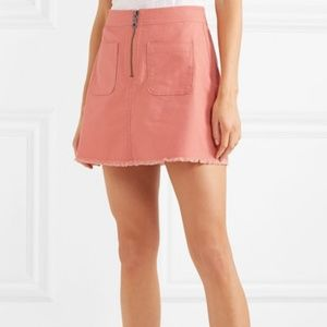 Madewell A Line Zip Skirt In Coral Pink sz 4